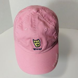 Life Is Good Woof Dog Cap Pink Girl 2 to 4 T